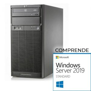 HP Proliant ML110 G6 tower Xeon Quad Core X3430- 8 Gb Ram- 2x HDD 500 Gb S-ata, Raid, Windows Server 2019 Standard